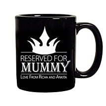 Crown Reserved For Mummy Mug: Send Personalised Mugs to Gurgaon