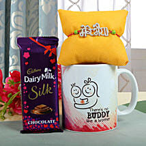 Crunchy Rakhi Delight: Rakhi With Mugs