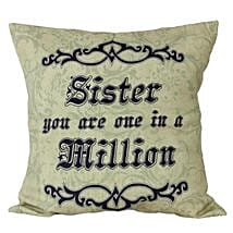 Cushion For Sister: Send Home Decor to Hyderabad