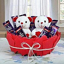 Cute Basket Of Surprise: Send Chocolate Bouquet for Kids
