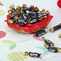 Cute Choco Basket: Send Fathers Day Gift Baskets