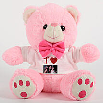 Cute Pink Personalized Teddy: Send Soft Toys
