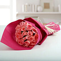 Cute Pink Roses Bunch: