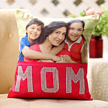 Dazzling Mom Cushion: Personalised Gifts Barnala
