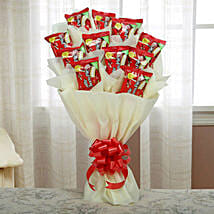 Delicious Choco Pie Bouquet: Holi Chocolates