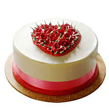 Desirable Rose Cake: Send New Year Cakes to Kanpur