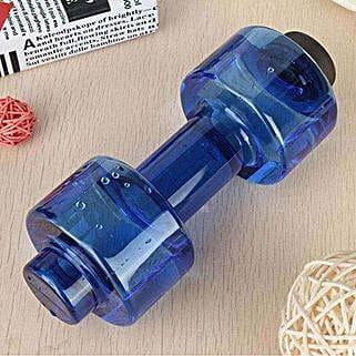 Dumbbell Water Bottle Blue Color: Gifts Bhai Dooj for Kids