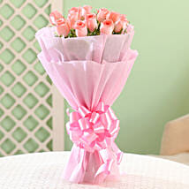 Elegance - Pink Roses Bouquet: Flowers for Birthday