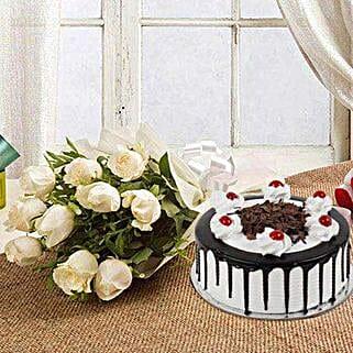 Elegant Burst: Flowers & Cakes Hyderabad