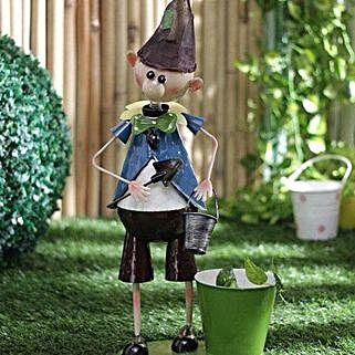 Elf Boy Planter: Gardening Tools