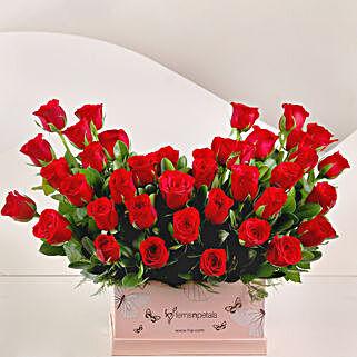 Ravishing 40 Red Roses Box Arrangement: Premium Flowers