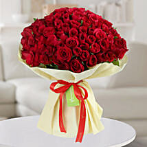 Enchanting Red Roses Bunch: Valentine Same Day Delivery Gifts