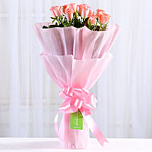 Endearing Pink Roses Bouquet: New Year Gifts Ghaziabad