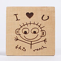 Engraved I Love You Table Top: Personalised Engraved