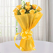 Enticing Yellow Roses Bouquet: Send Roses to Hyderabad