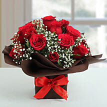 Exotic Red Roses Arrangement: Flowers to Kolkata