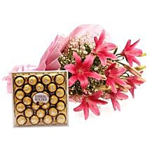 Falling In Love: Flowers & Chocolates for Birthday