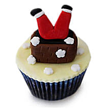 Falling Santa Cupcakes: Cup Cakes to Hyderabad