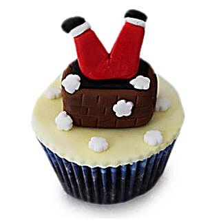 Falling Santa Cupcakes: Cup Cakes to Bengaluru