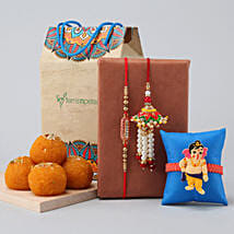 Family Rakhi Set & Motichoor Laddu: Rakhi Express Delivery
