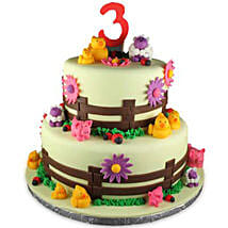 Farm Animals: Designer cakes for anniversary