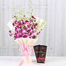 Fascinating Choco Combo: Anniversary Flowers Chennai