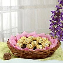 Ferrero Chocolate Basket: Send Friendship Day Chocolates