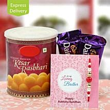 Flavour of love: Rakhi With Sweets Bestsellers