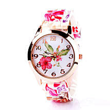 Floral Silicone Watch For Women: Buy Watches