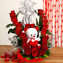 Flowerly Yours: Flowers & Teddy Bears for Anniversary