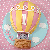 Flying Balloon Elephant Cake: 1st Birthday Cakes