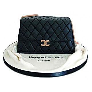 Fondant Handbag Cake: Designer Cakes to Delhi