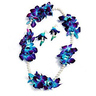 Fresh Flower Jewelry Set: Floral Jewellery