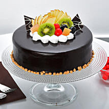 Fruit Chocolate Cake: Send Gifts to Jagran