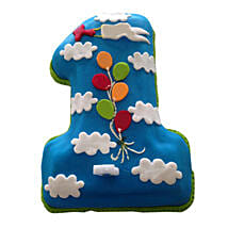 Fun Loving Fondant Cake: Cakes for 1st Birthday