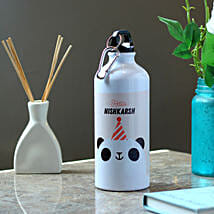 Funny Panda Personalised Steel Bottle: Send Personalised Message Bottles