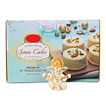 Ganesha Idol With Soan Cake: Handicrafts for Him