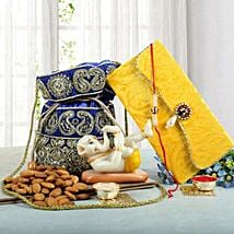 Ganesha N Dry Fruits Combo: Send Rakhi to Ambernath