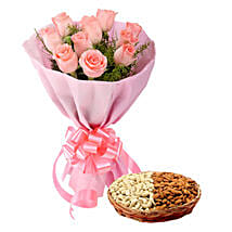 Glorious Presentation: Flowers & Dry Fruits for Raksha Bandhan