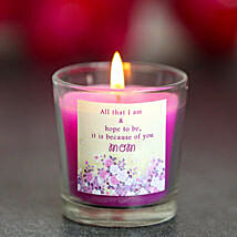 Glowing Love Candle: Candles