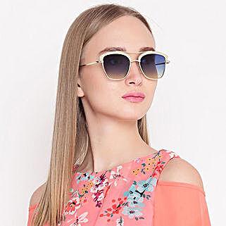 Gold N Blue Wayfarer Women Sunglasses: Birthday Gifts for Girlfriend
