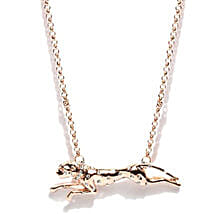 Gold Plated Leoperd Shaped Necklace: Gold Plated Gifts