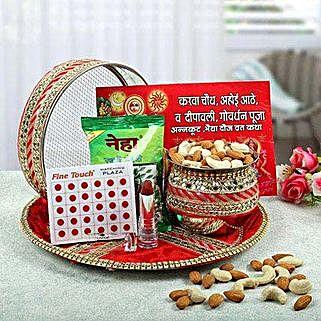 Graceful Karwa Chauth Thali: Karwa Chauth Gifts to Hyderabad