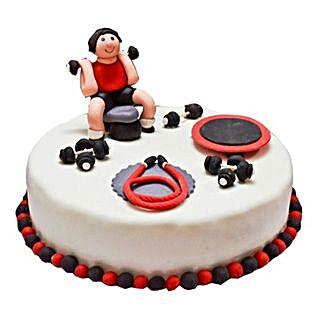 Gym Fondant Cake: Designer Cakes to Delhi