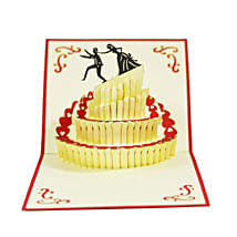 Handmade 3D Pop Up Wedding Cake Card: Funny Gifts