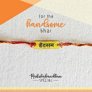 Handsome Bro Quirky Rakhi & Card: Rakhi Gifts to Bangalore