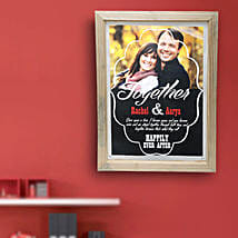 Happily Ever After Personalized Wall Hanging: Personalised Photo Frames Bengaluru
