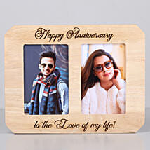 Happy Anniversary One Personalised Wooden Photo Frame: Send Personalised Photo Frames for Her