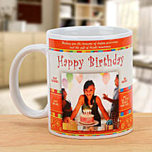 Happy Bday Personalized Mug: Gifts to Jhansi