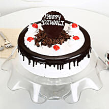 Happy Diwali Black Forest Cake: Diwali Gifts for Employees